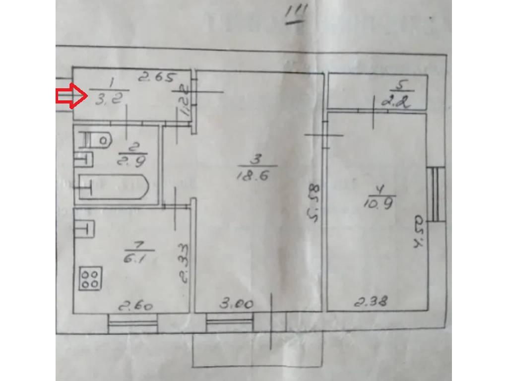2-комнатная квартира, 44.00 м2, 27500 у.е.