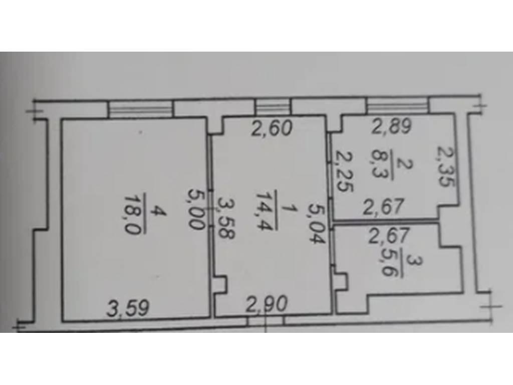 1-комнатная квартира, 46.00 м2, 38000 у.е.