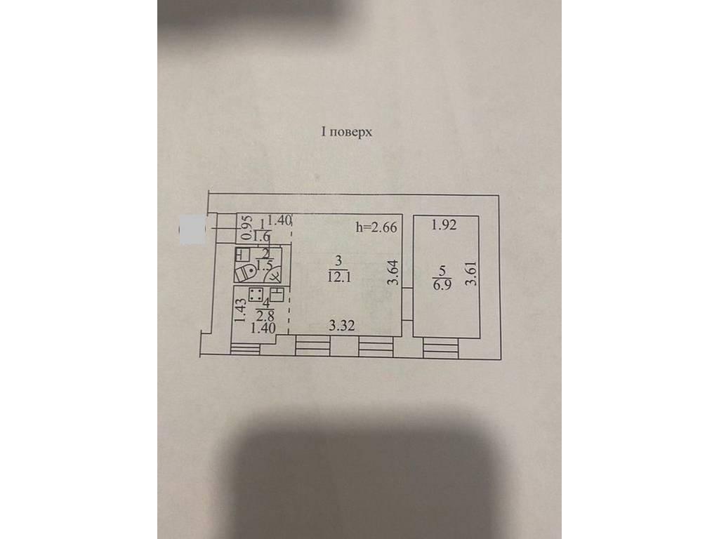 2-комнатная квартира, 27.00 м2, 22000 у.е.