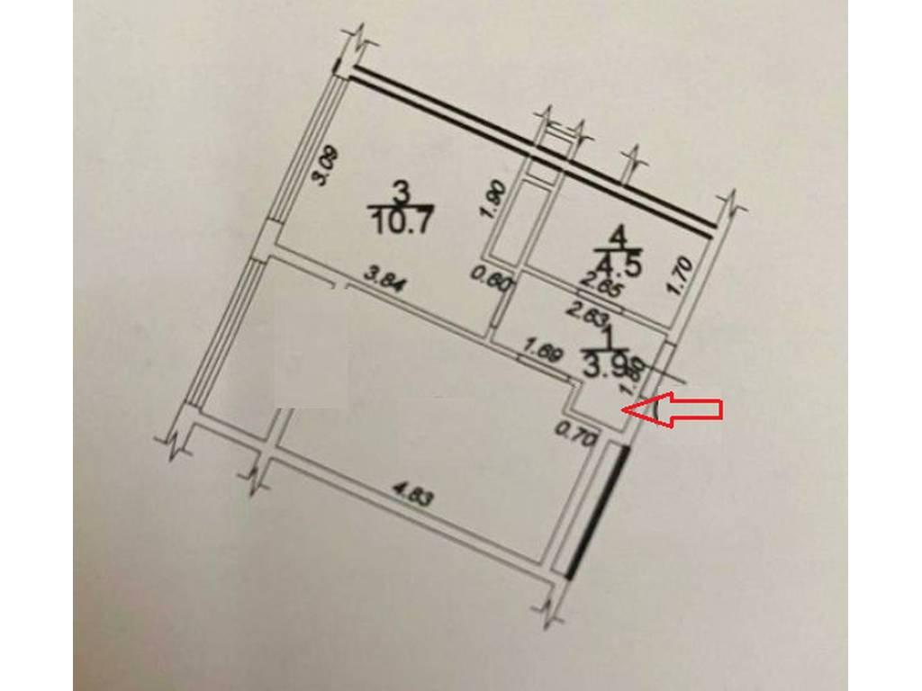 1-комнатная квартира, 37.00 м2, 46500 у.е.