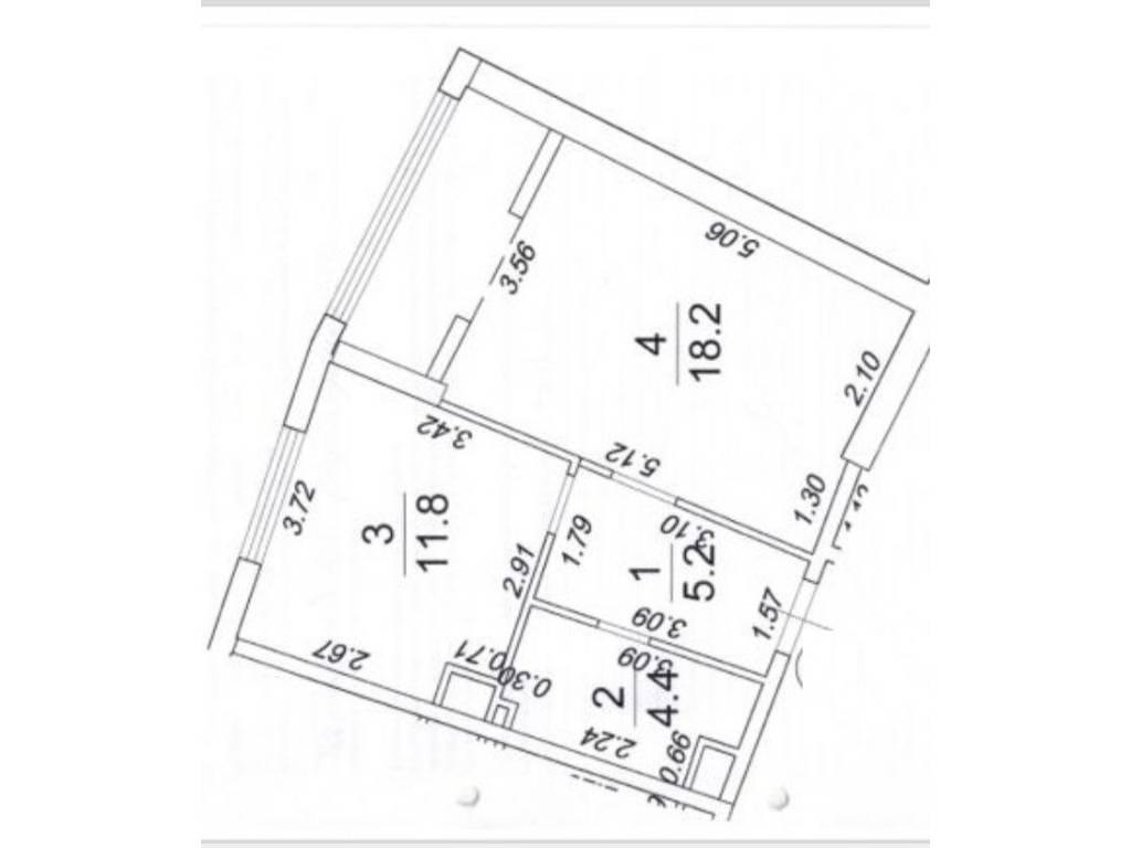1-комнатная квартира, 44.30 м2, 45408 у.е.