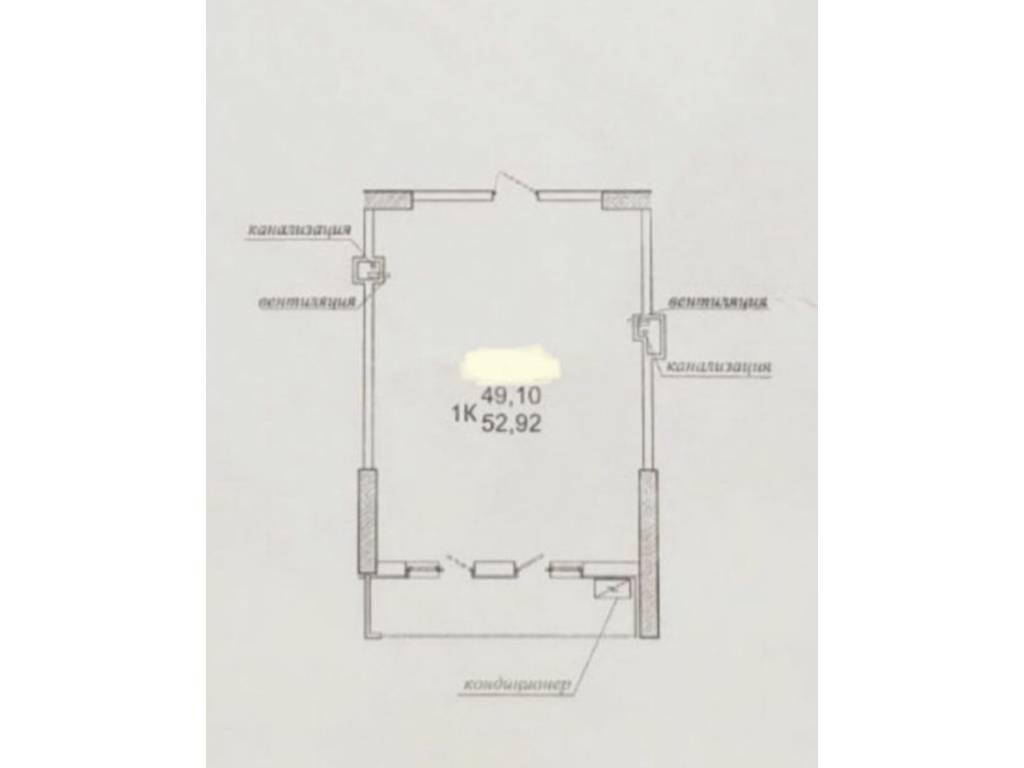 1-комнатная квартира, 53.00 м2, 48500 у.е.