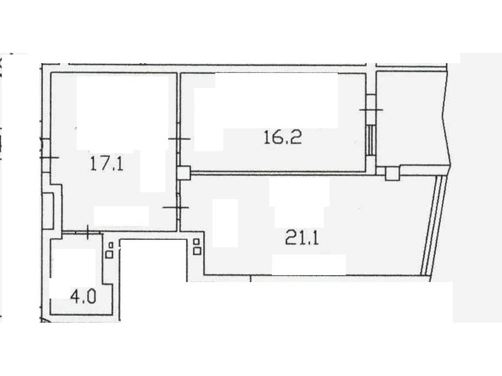 1-комнатная квартира, 61.00 м2, 93762 у.е.