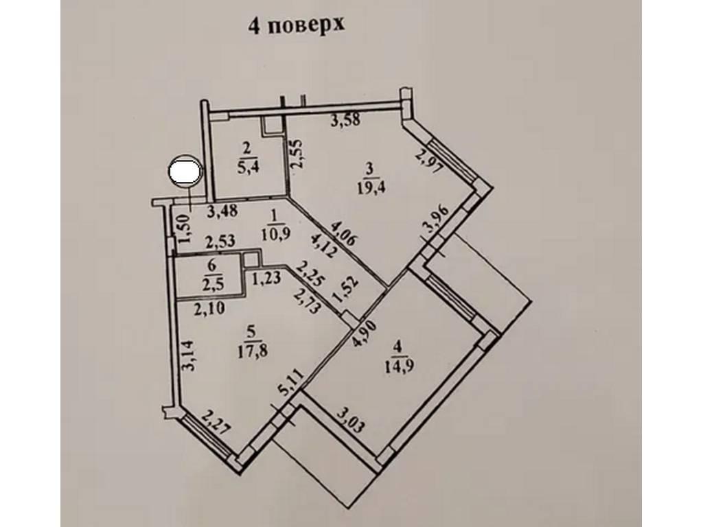 2-комнатная квартира, 73.00 м2, 46900 у.е.