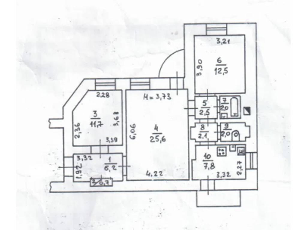 3-комнатная квартира, 75.00 м2, 70000 у.е.