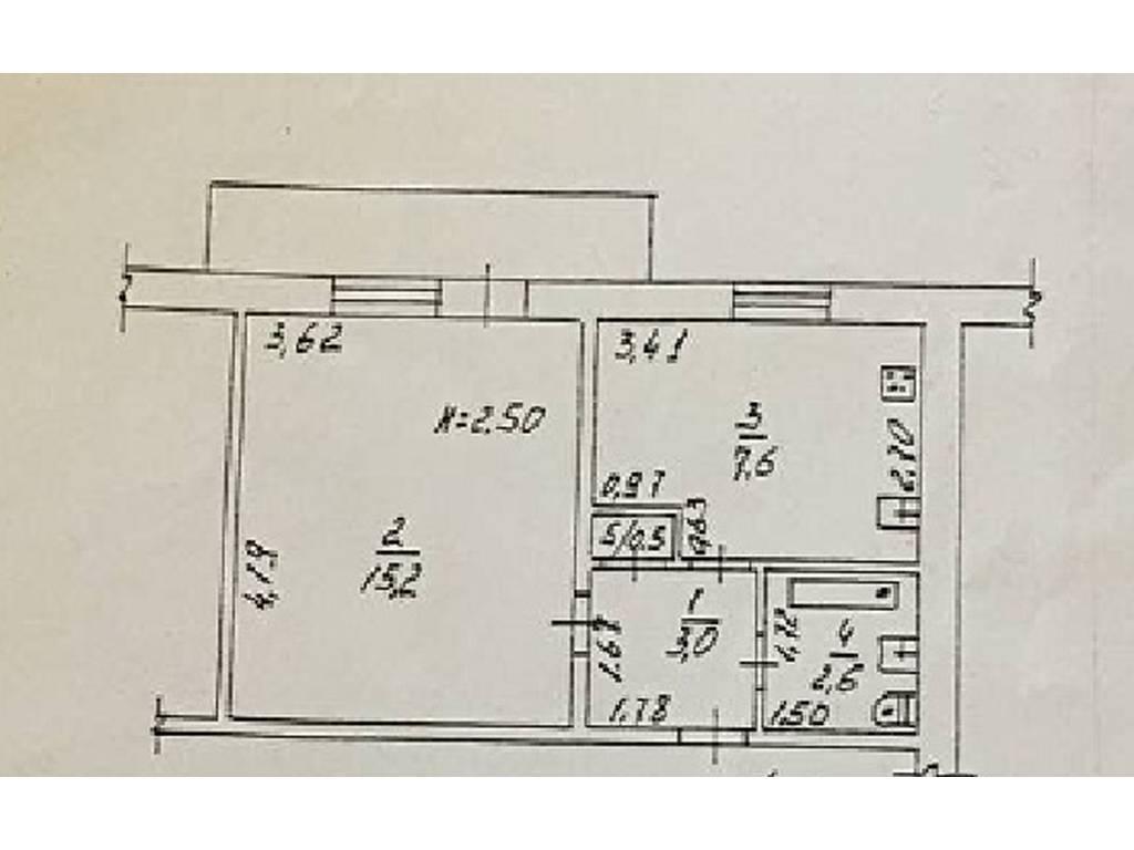 1-комнатная квартира, 34.00 м2, 37000 у.е.
