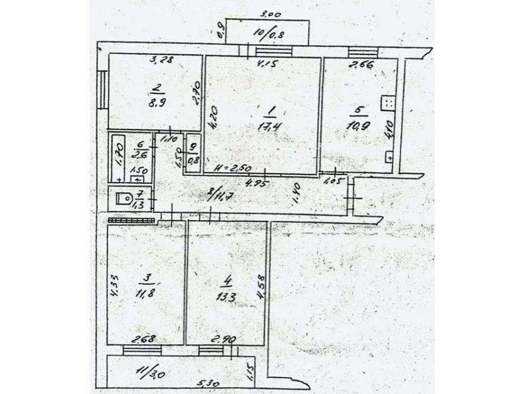 4-комнатная квартира, 82.50 м2, 85000 у.е.