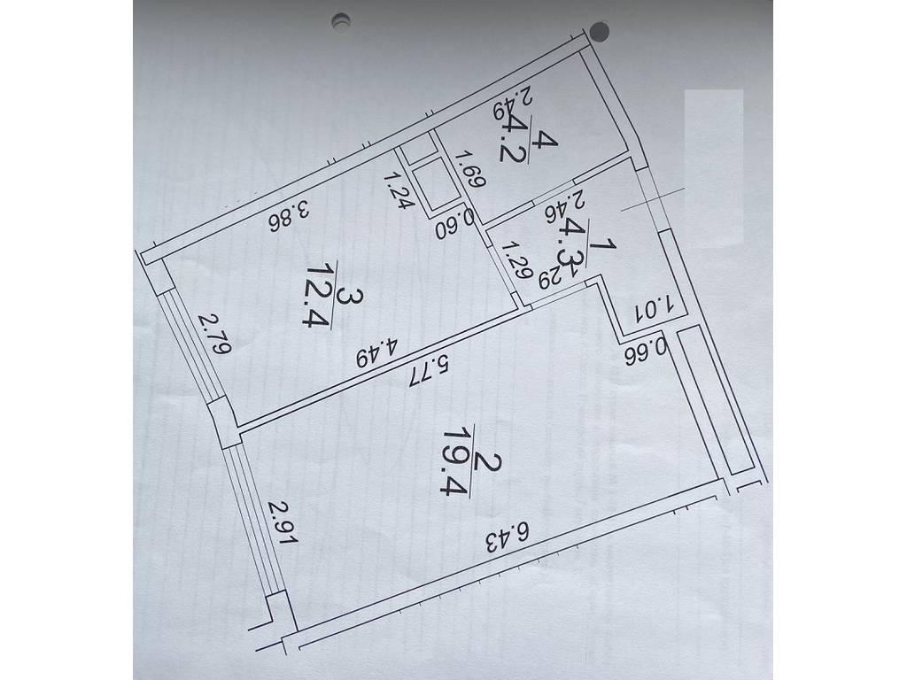 1-комнатная квартира, 40.27 м2, 59000 у.е.