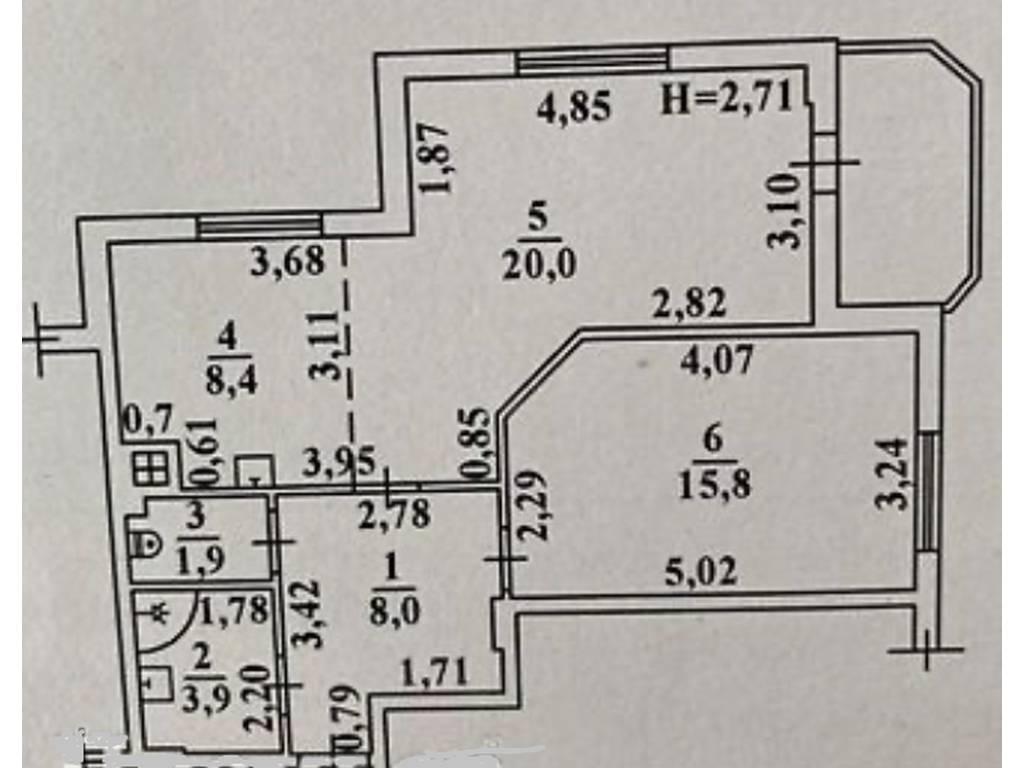 1-комнатная квартира, 62.00 м2, 51000 у.е.