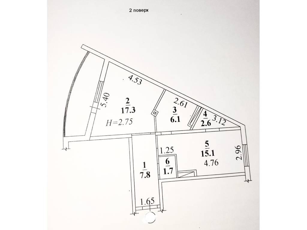 1-комнатная квартира, 59.00 м2, 50900 у.е.