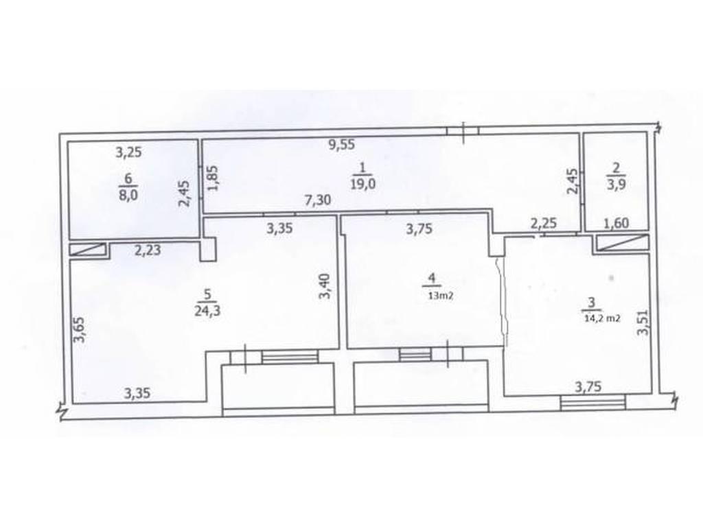 2-комнатная квартира, 86.00 м2, 82000 у.е.