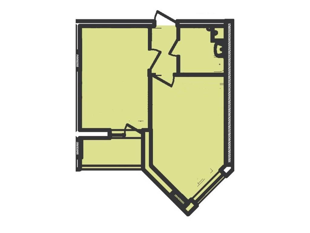 1-комнатная квартира, 37.00 м2, 41000 у.е.