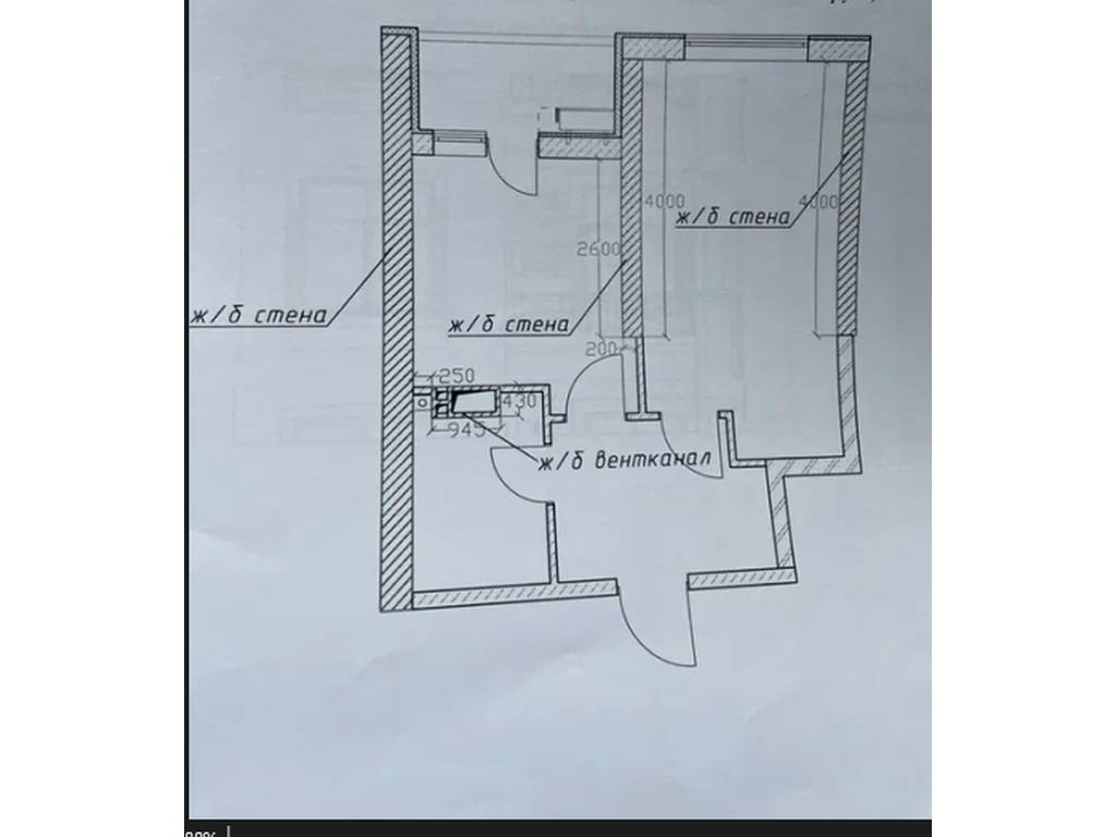 1-комнатная квартира, 38.80 м2, 46500 у.е.