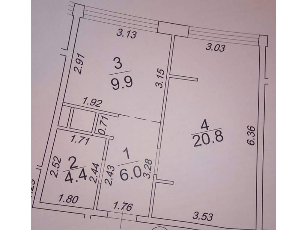 1-комнатная квартира, 41.00 м2, 70000 у.е.