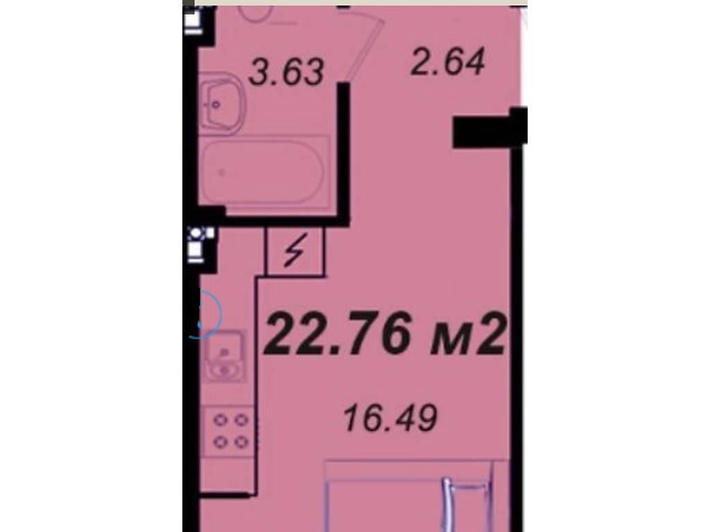 1-комнатная квартира, 23.00 м2, 19500 у.е.