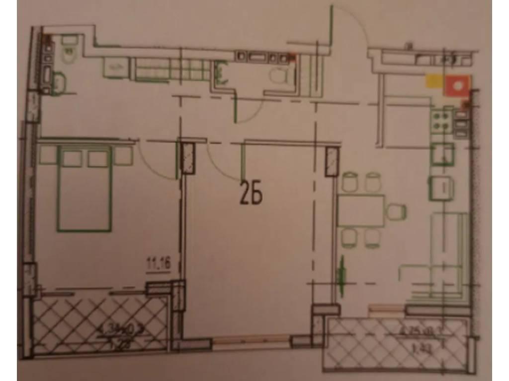2-комнатная квартира, 65.00 м2, 75000 у.е.