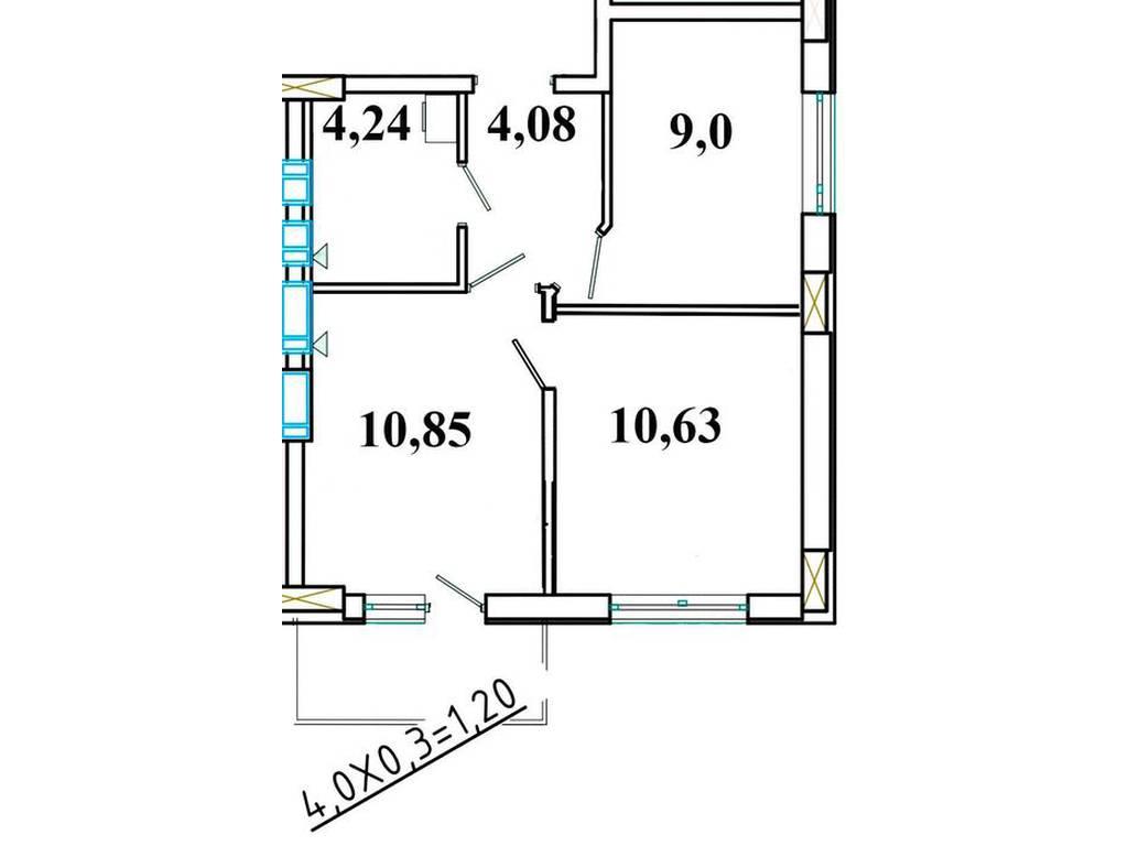 1-комнатная квартира, 40.00 м2, 32500 у.е.