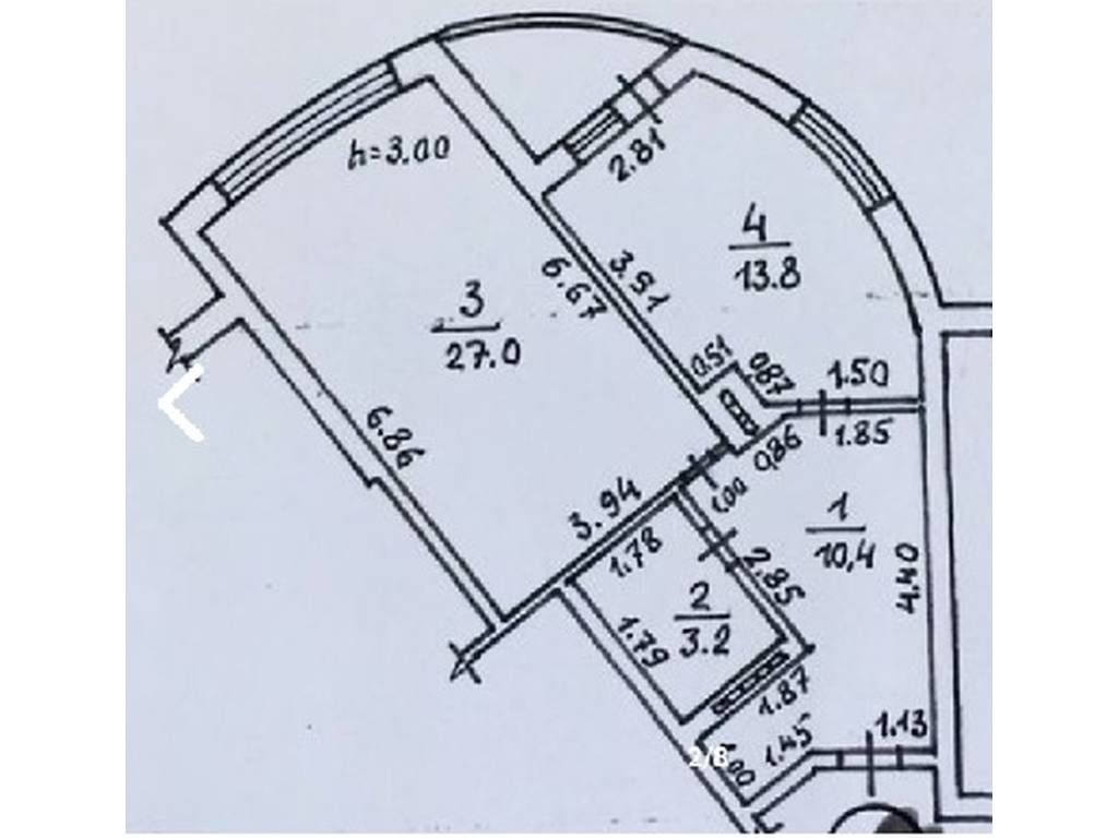 1-комнатная квартира, 56.00 м2, 56000 у.е.