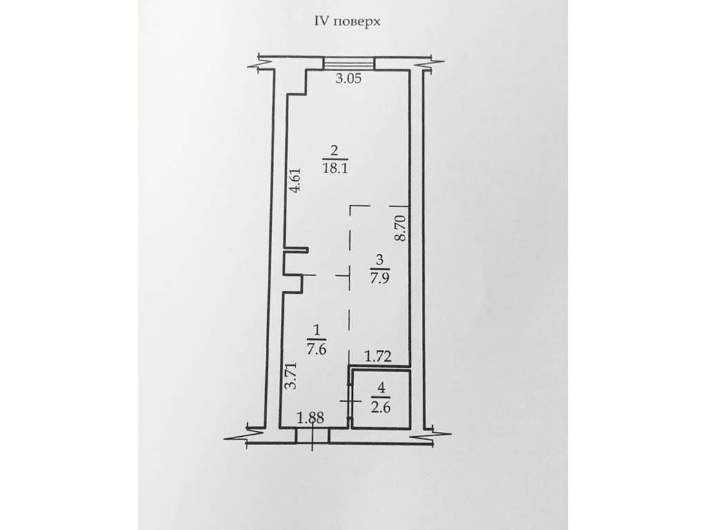 1-комнатная квартира, 36.20 м2, 43500 у.е.