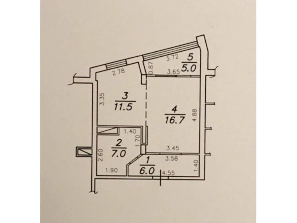1-комнатная квартира, 48.00 м2, 51000 у.е.