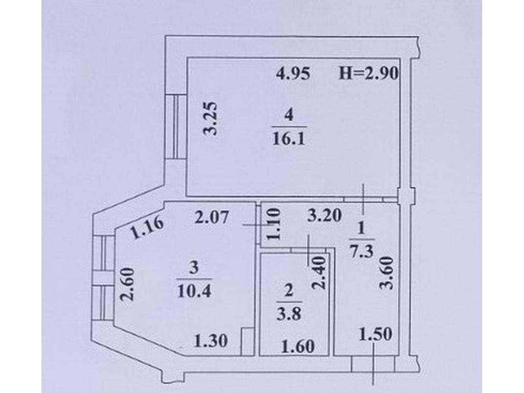 1-комнатная квартира, 37.60 м2, 30080 у.е.