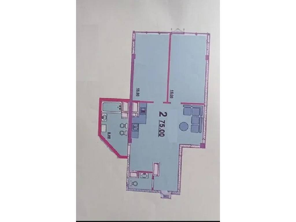 2-комнатная квартира, 75.00 м2, 76000 у.е.
