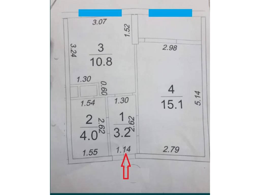 1-комнатная квартира, 38.00 м2, 44990 у.е.