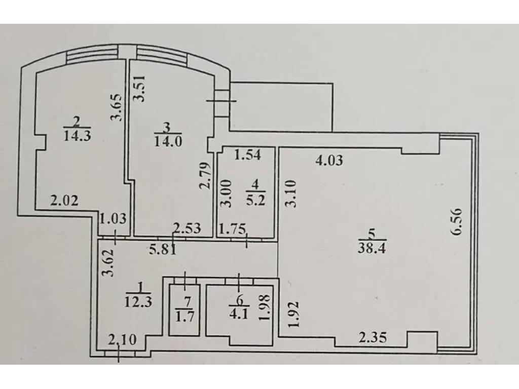 3-комнатная квартира, 91.00 м2, 150000 у.е.