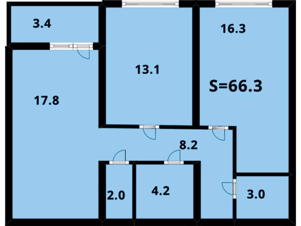 2-комнатная квартира, 67.00 м2, 57000 у.е.
