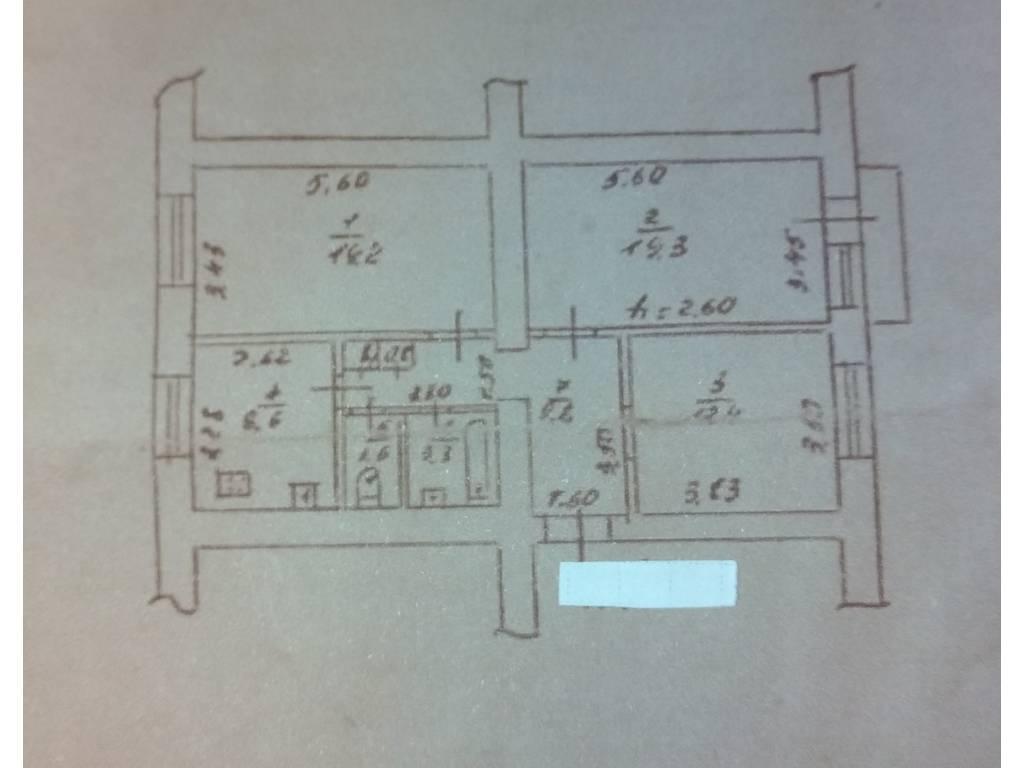3-комнатная квартира, 80.00 м2, 135000 у.е.