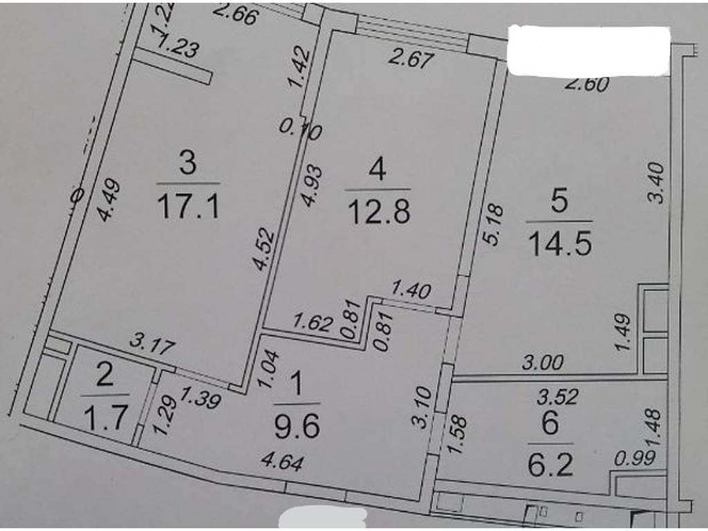 2-комнатная квартира, 63.00 м2, 97000 у.е.