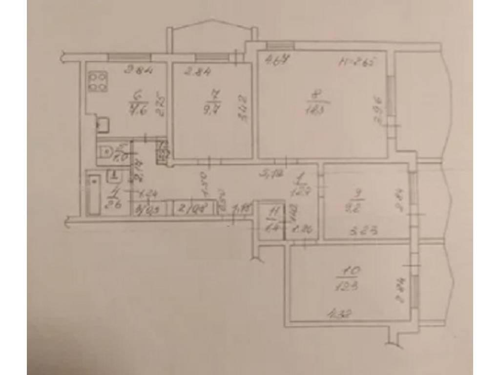 4-комнатная квартира, 82.00 м2, 53000 у.е.