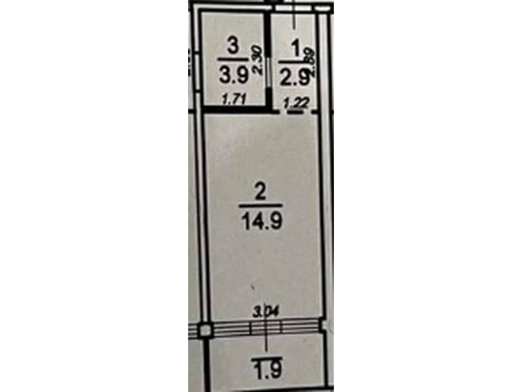 1-комнатная квартира, 23.60 м2, 31860 у.е.