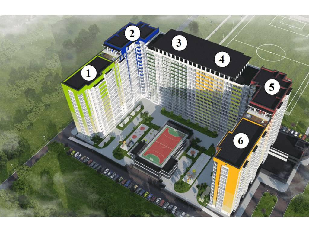 1-комнатная квартира, 40.96 м2, 26600 у.е.
