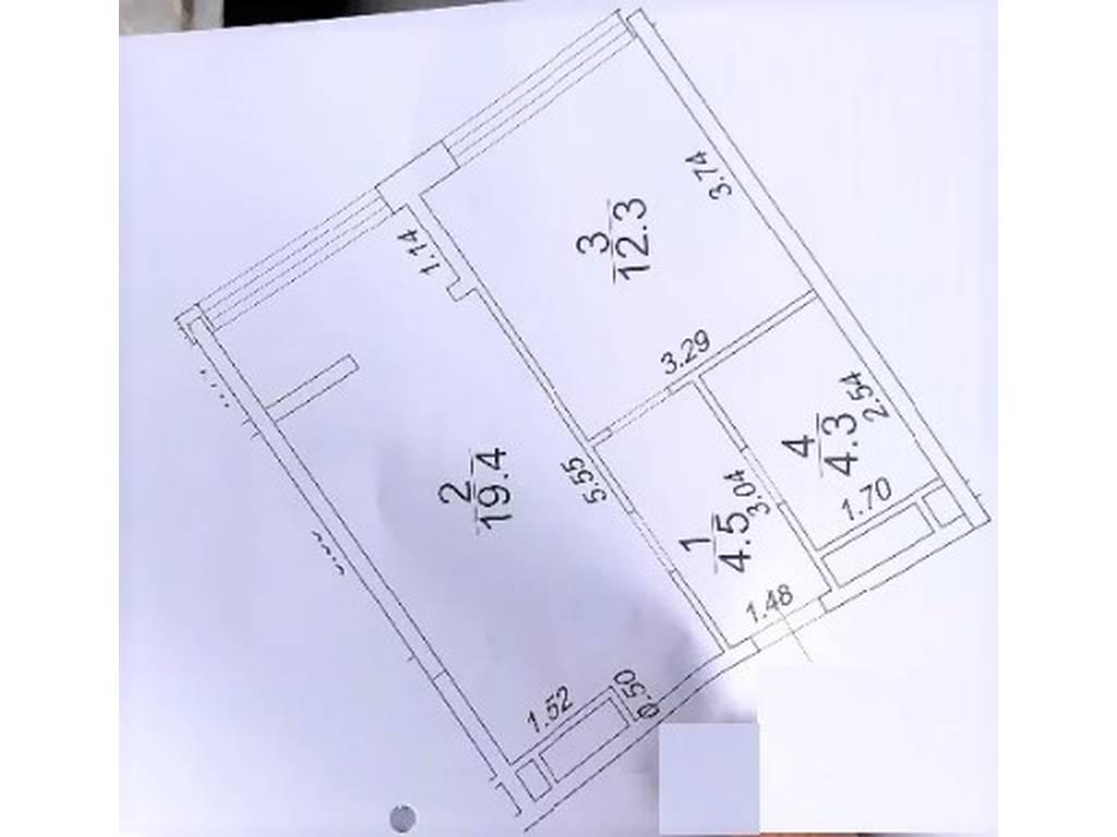 1-комнатная квартира, 40.50 м2, 49500 у.е.