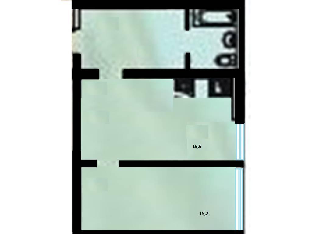 1-комнатная квартира, 44.90 м2, 32070 у.е.