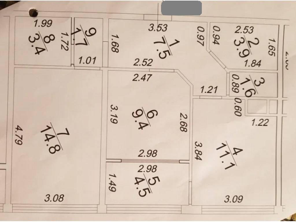 2-комнатная квартира, 57.60 м2, 43000 у.е.