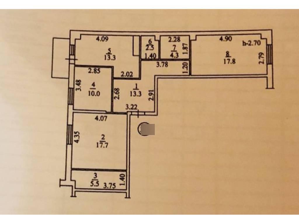 3-комнатная квартира, 85.60 м2, 66500 у.е.