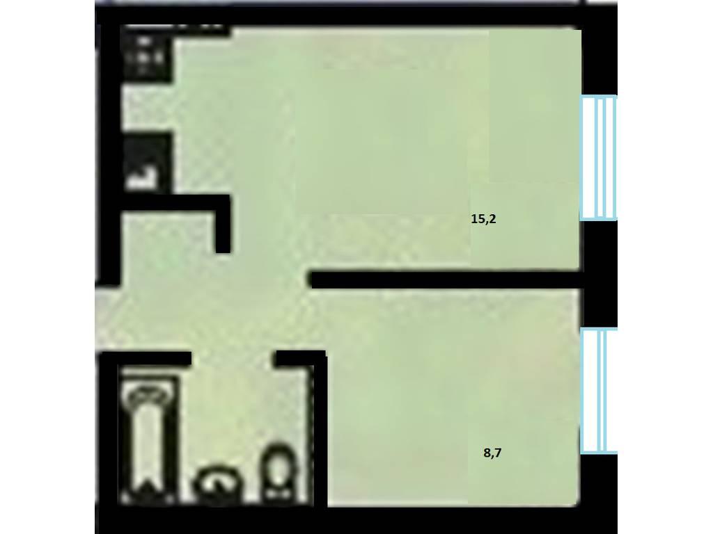 1-комнатная квартира, 31.40 м2, 26060 у.е.