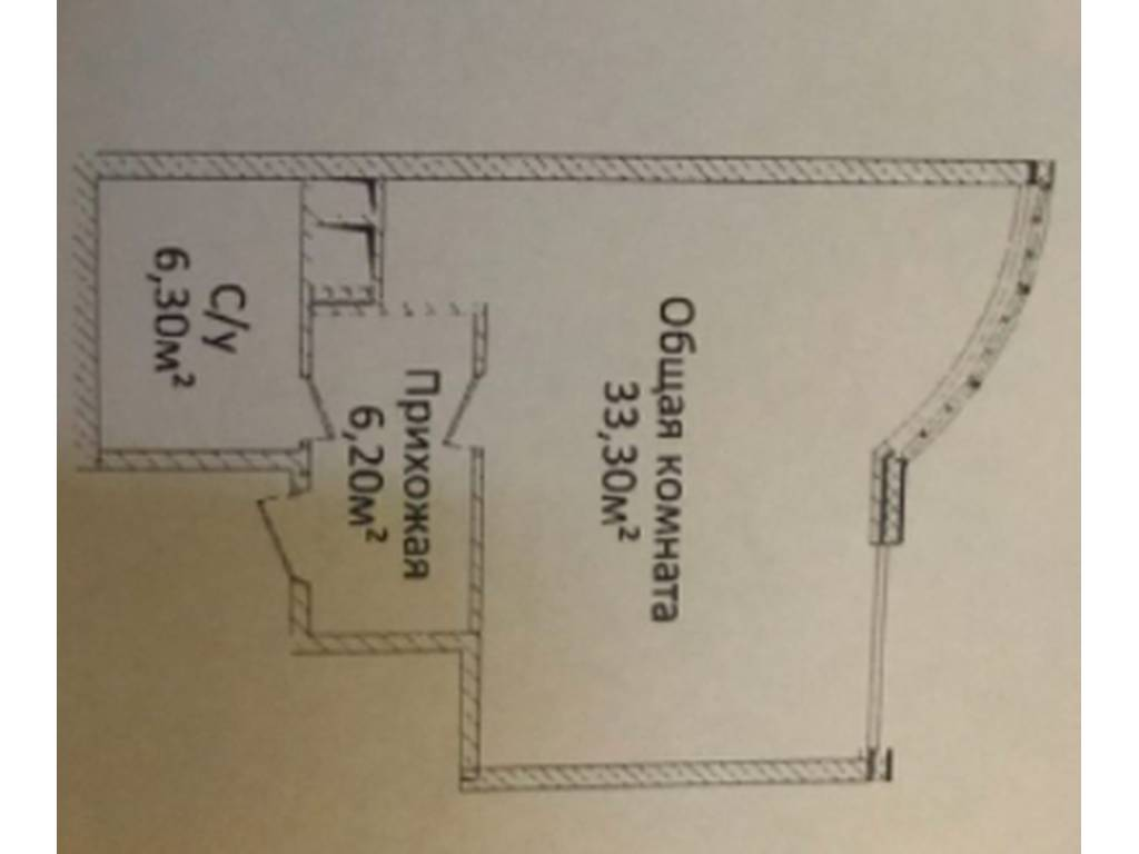 1-комнатная квартира, 46.60 м2, 65000 у.е.