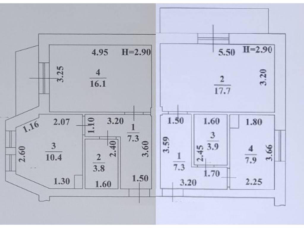 3-комнатная квартира, 77.20 м2, 67160 у.е.