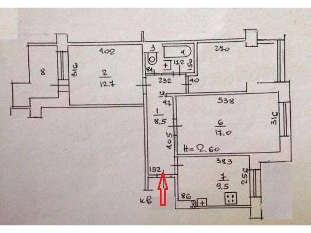 3-комнатная квартира, 64.00 м2, 50000 у.е.