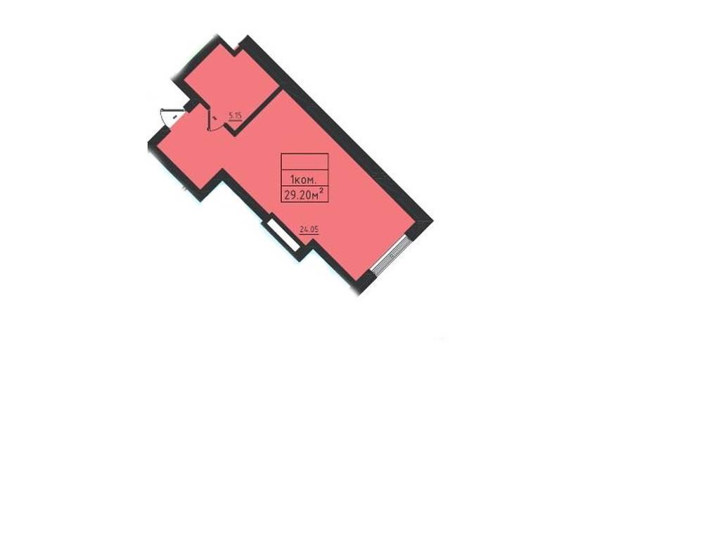 1-комнатная квартира, 29.20 м2, 33500 у.е.