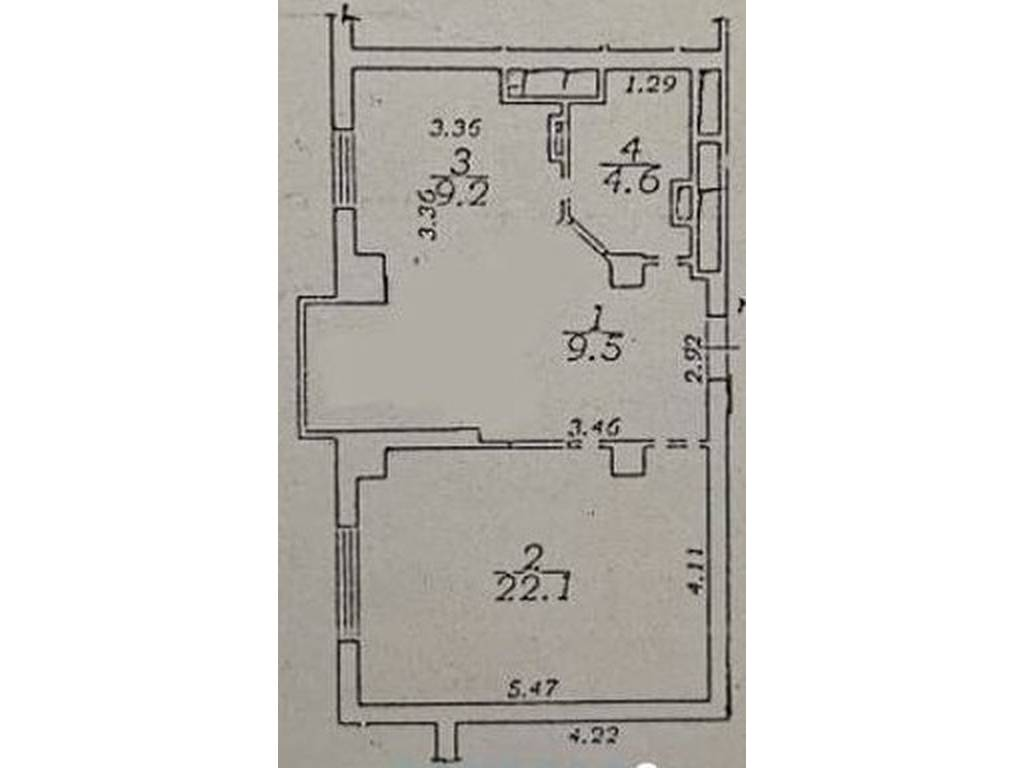 1-комнатная квартира, 49.00 м2, 69000 у.е.