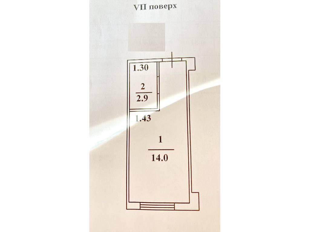 1-комнатная квартира, 17.00 м2, 18900 у.е.
