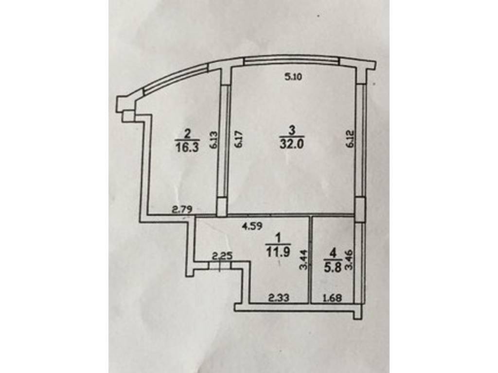 1-комнатная квартира, 66.00 м2, 110000 у.е.