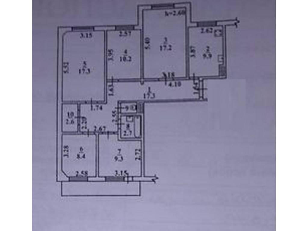 5-комнатная квартира, 100.00 м2, 49000 у.е.