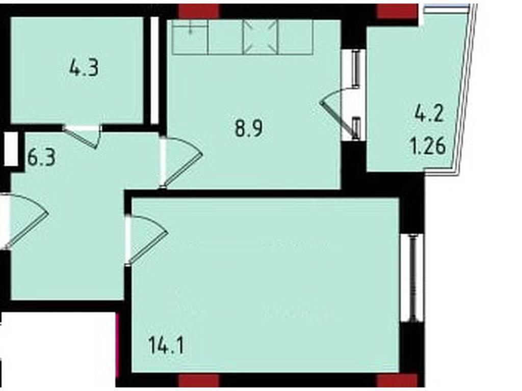 1-комнатная квартира, 34.84 м2, 24249 у.е.