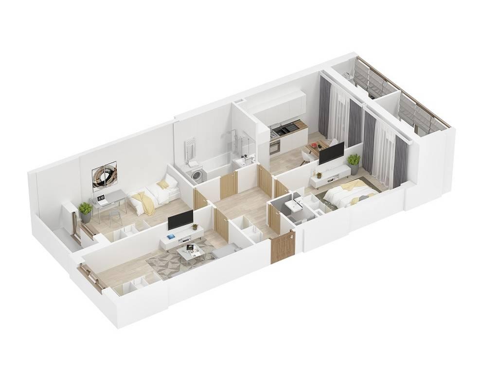 1-комнатная квартира, 85.00 м2, 57265 у.е.