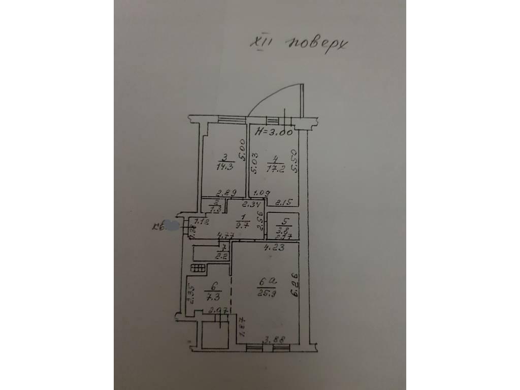 3-комнатная квартира, 90.00 м2, 198000 у.е.